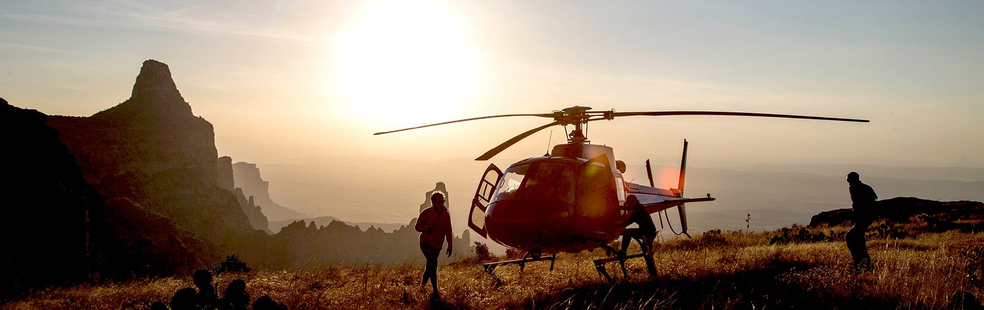 Heli-sundowners in the Tigray region, northern Ethiopia @ Richard Coke