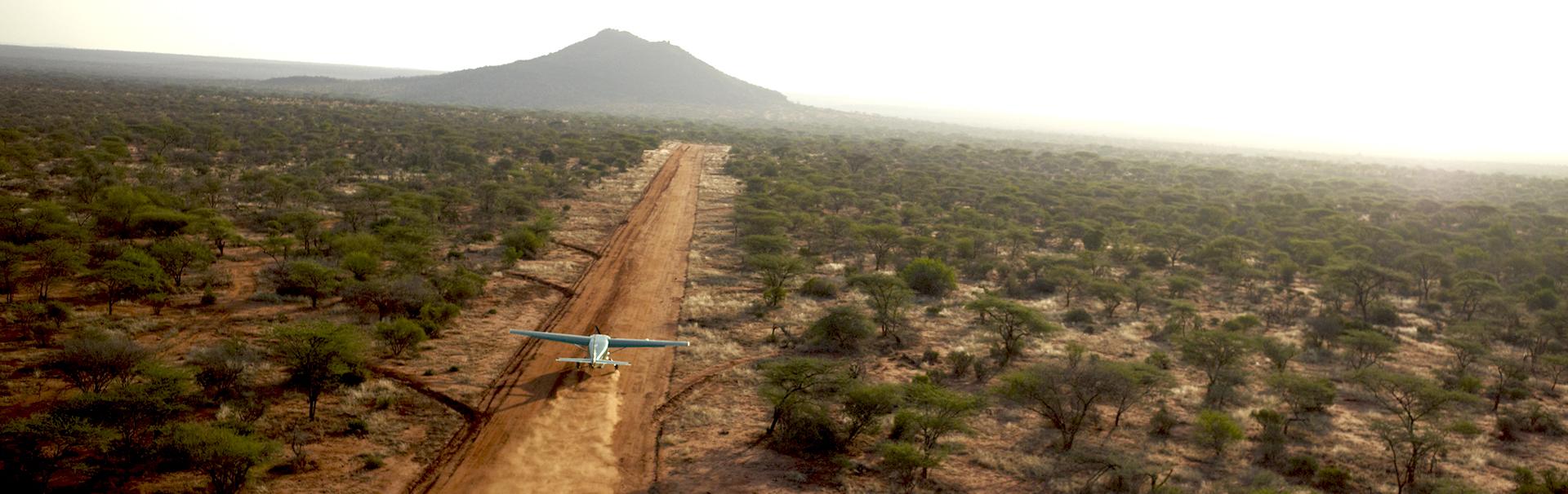 Bush flying in Northern Kenya