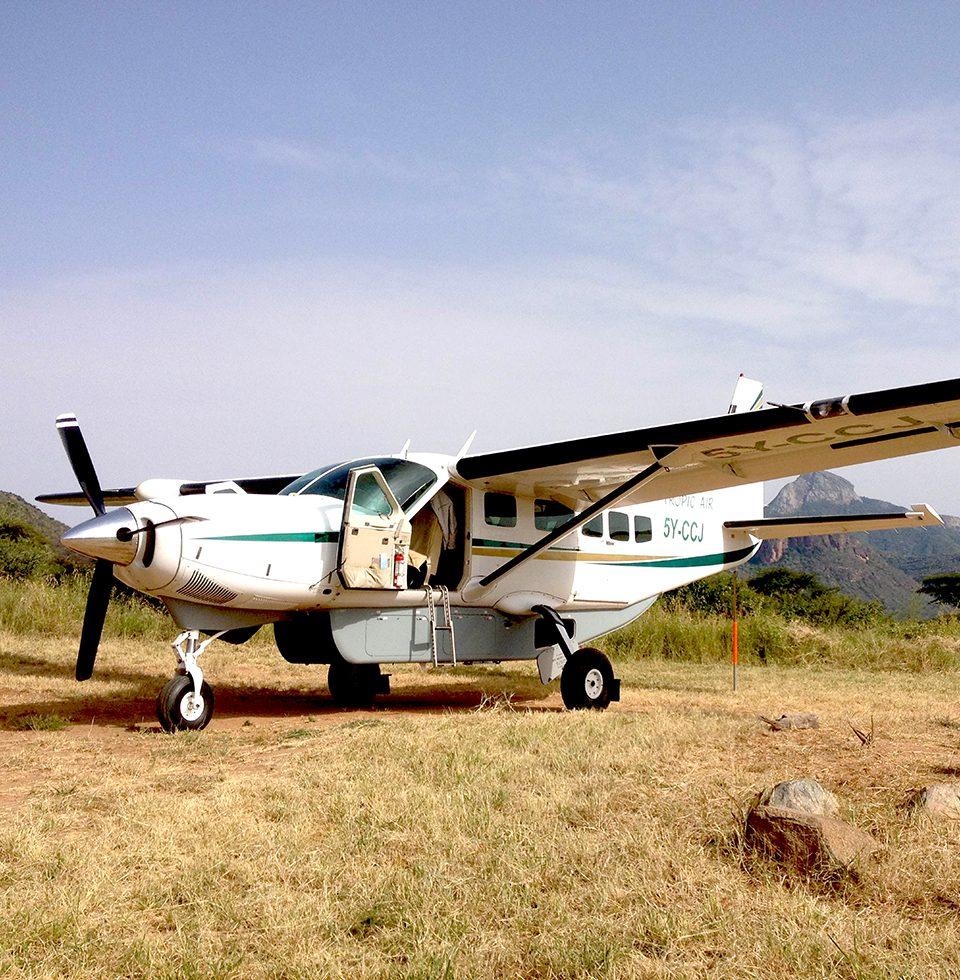 Cessna Caravan in Samburu, waiting for passengers
