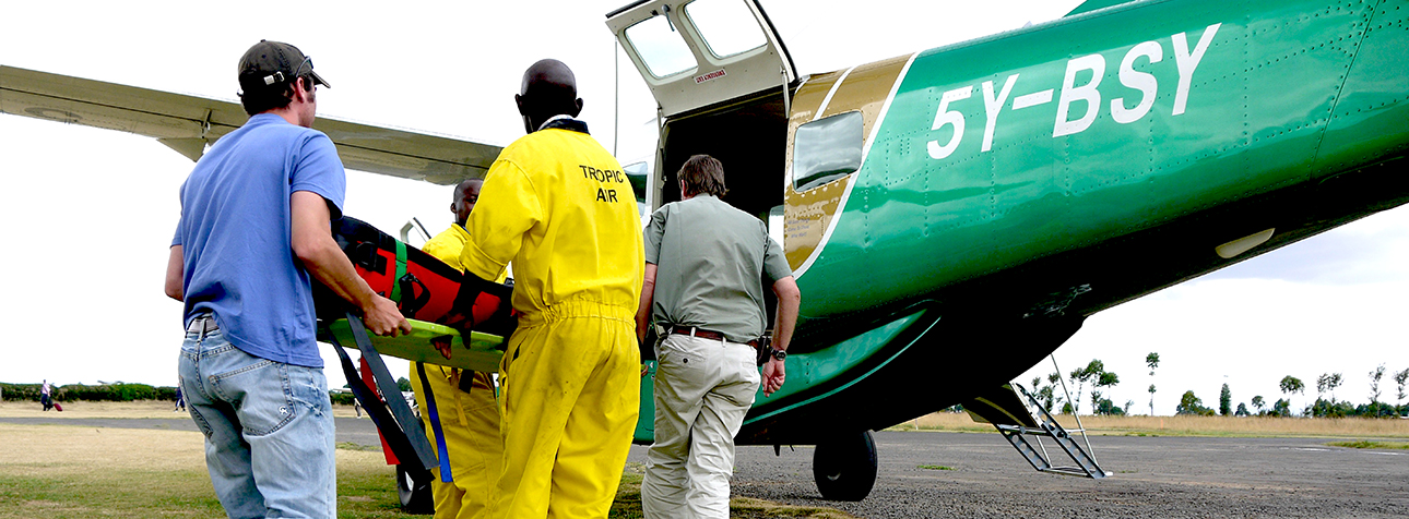 Airlifting a patient in the Cessna Caravan