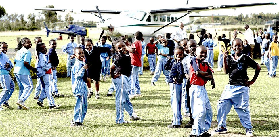 School kids visiting Nanyuki Airfield @ John Balsom