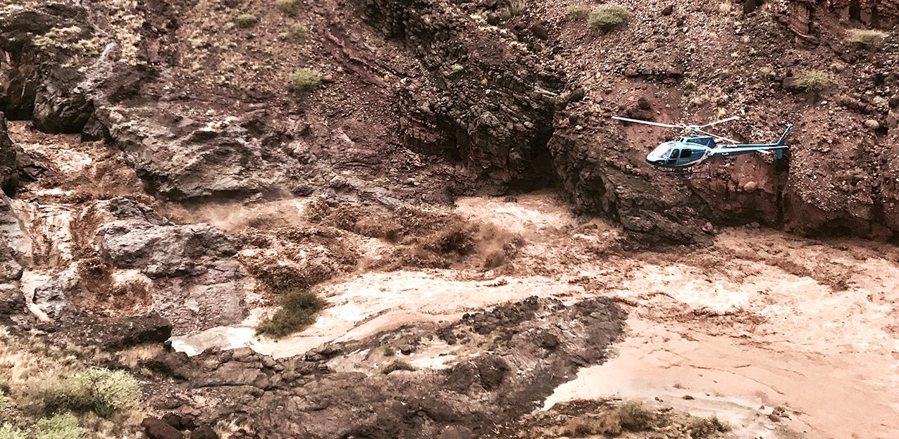 Flooded Baragoi River, Kenya