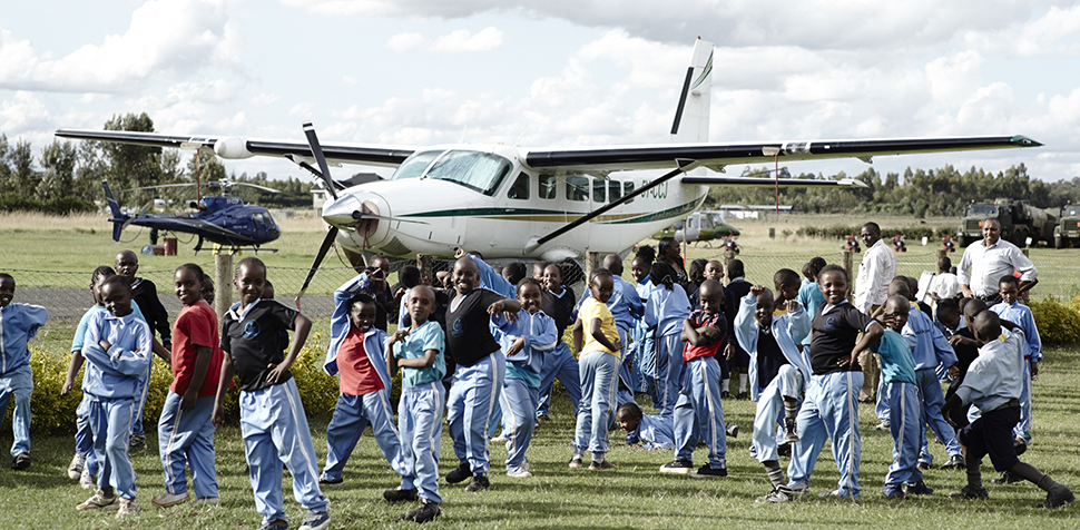 School Children at Nanyuki Airfield