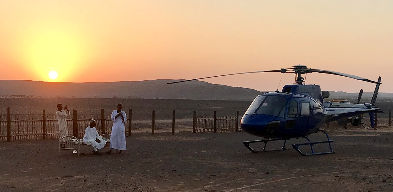 Helicopter Safari in North Sudan
