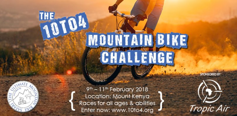 Poster for the 10 to 4 Mountain Bike Challenge