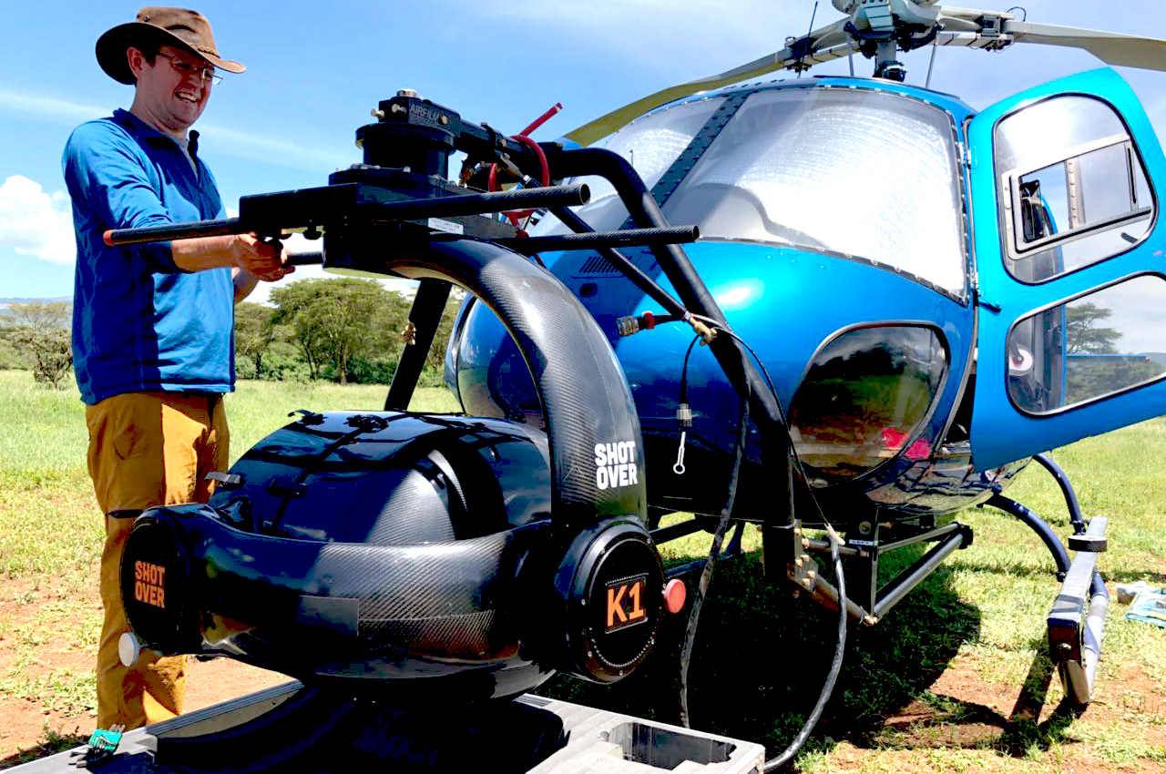 K1 Shotover Camera on the nose of the Tropic Air helicopter