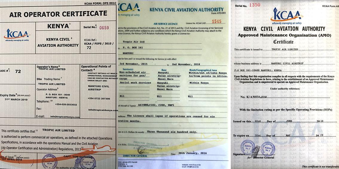 2018 KCAA licences