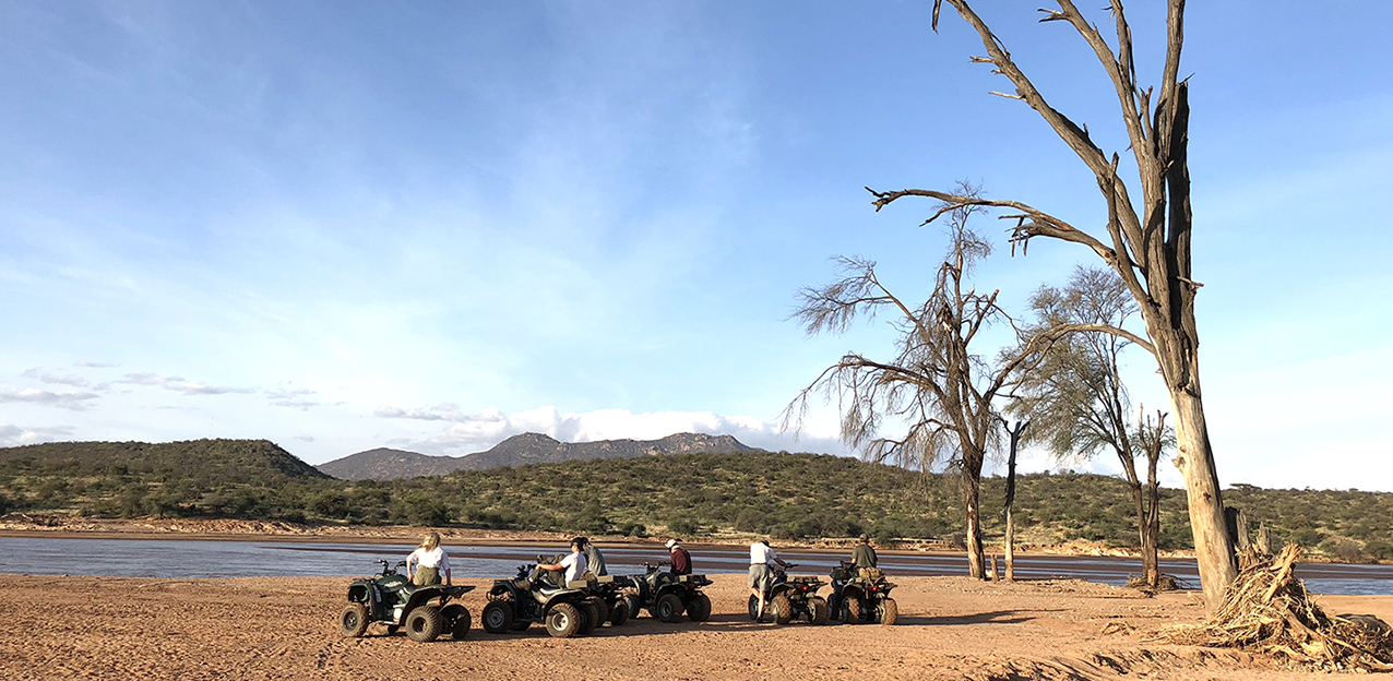 Quad biking in Samburu, Kenya safari