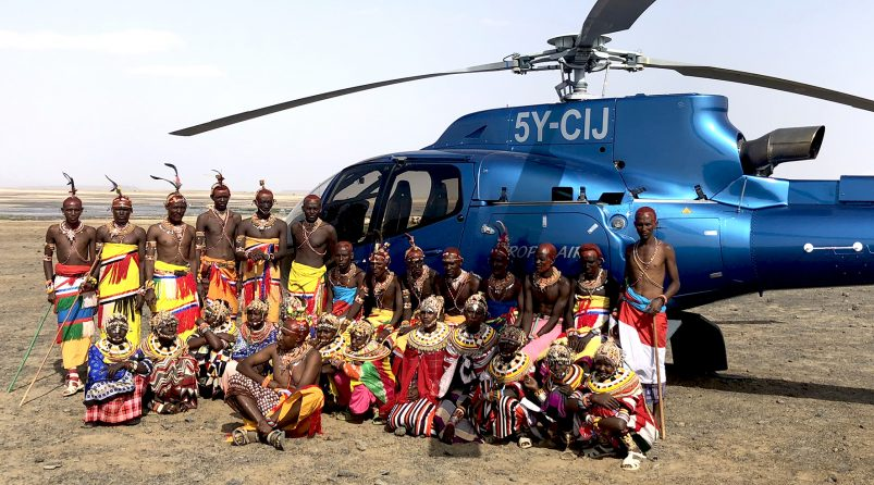 Visiting the Rendille people, Kenya helicopter safari