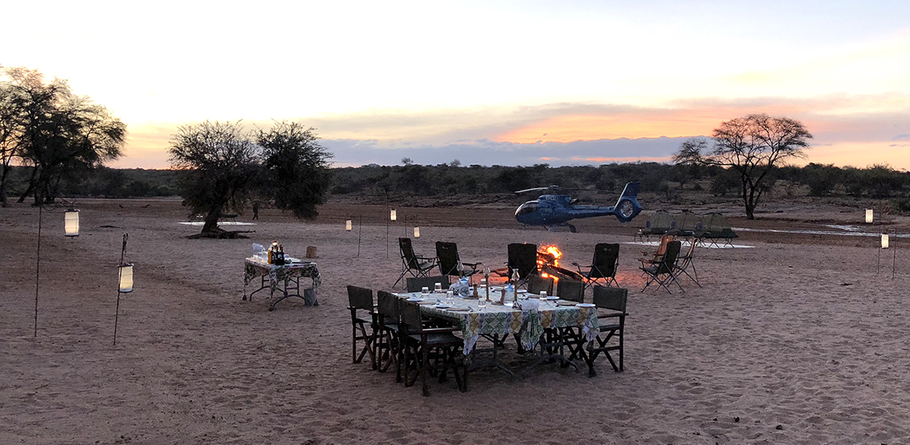 Dining outside in Samburu Kenya