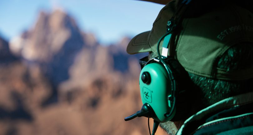 Mount Kenya by helicopter