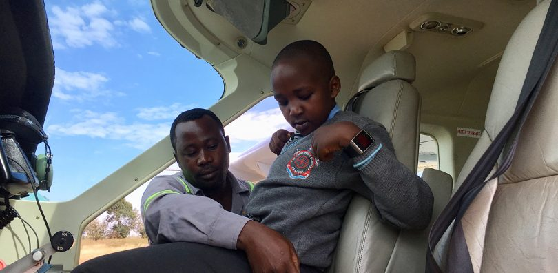 Flight for Nanyuki school children