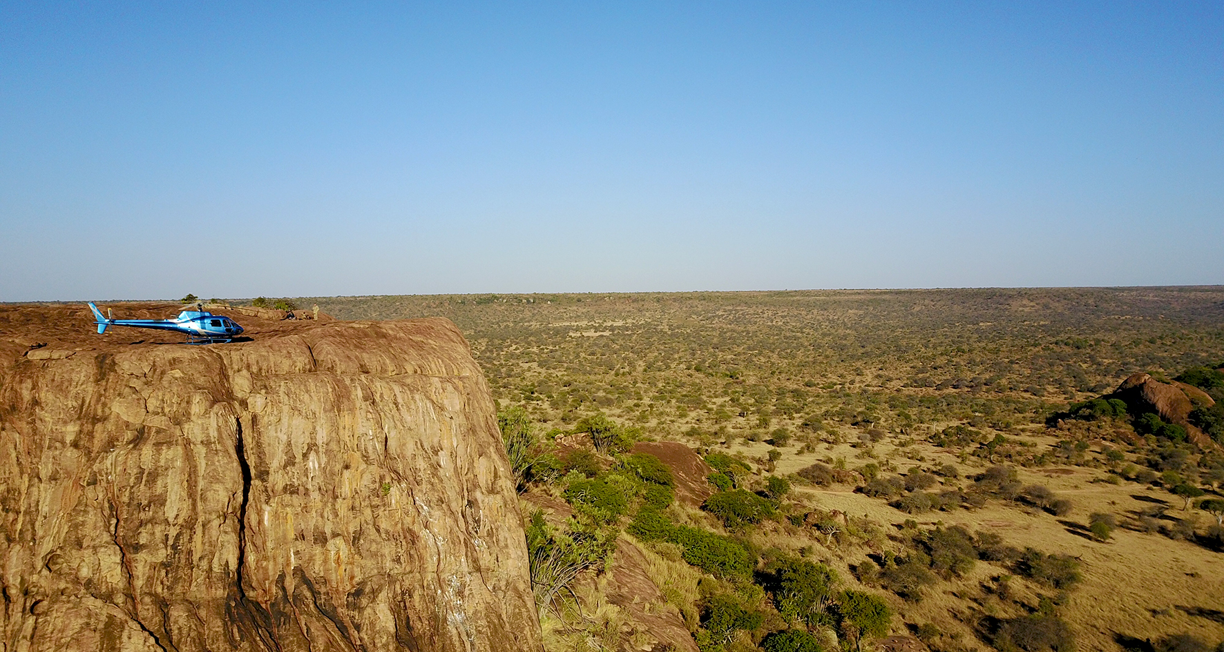 Landing on Baboon Rock, Laikipia