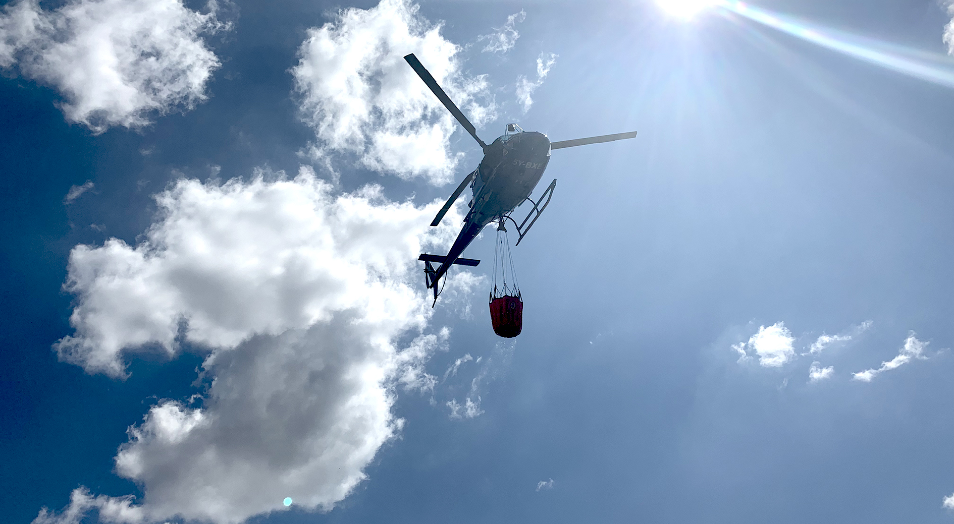 Helicopter with Bambi Bucket