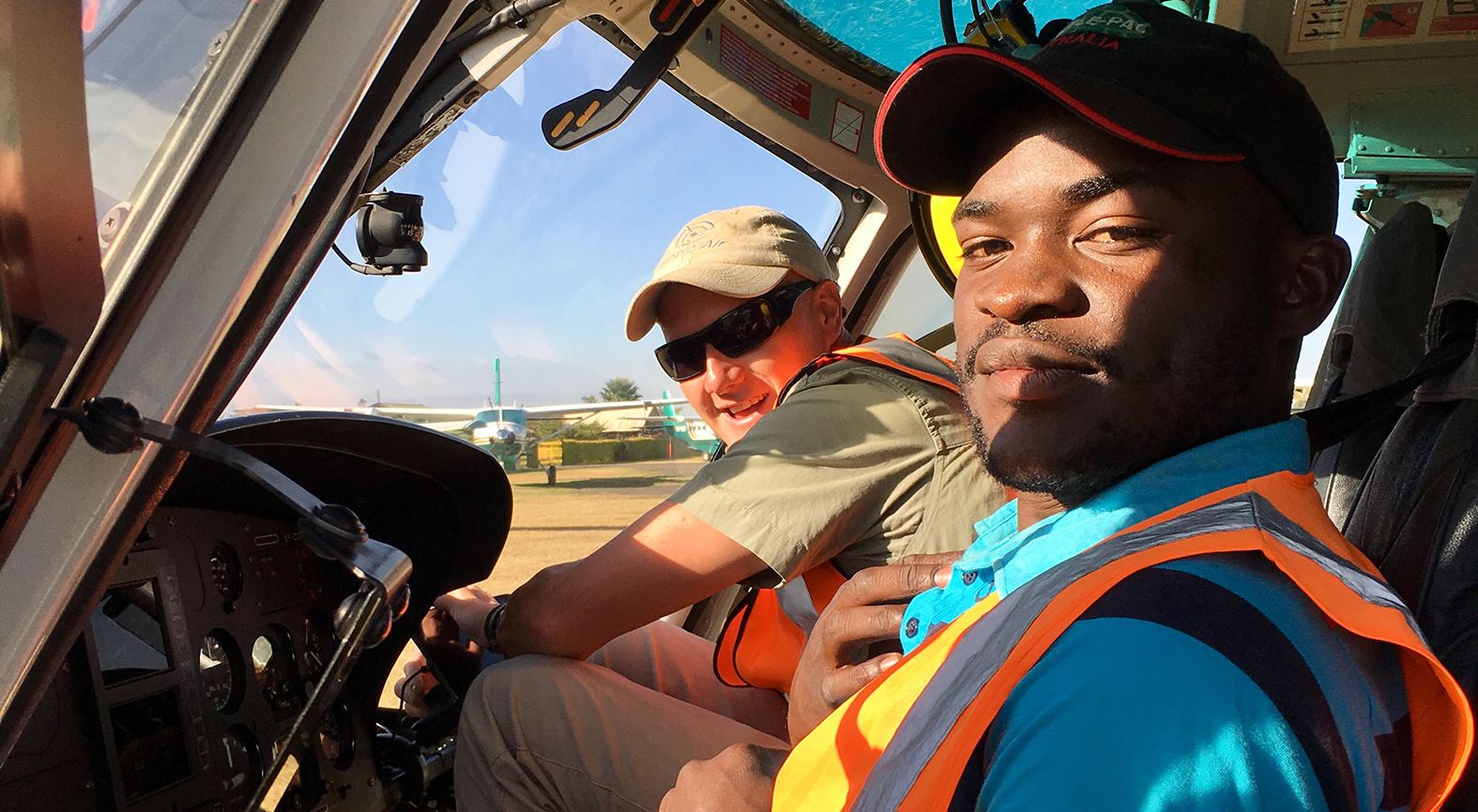 Helicopter Pilot Timmy and Engineer Cyprian