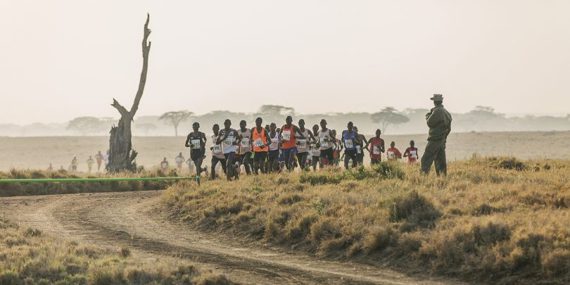 Runners at the Lewa Safaricom Marathon