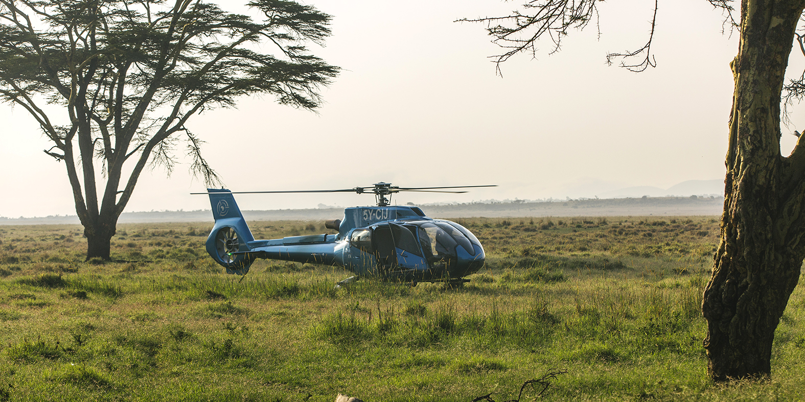 Helicopter H130 at Lewa Wildlife Conservancy, Kenya
