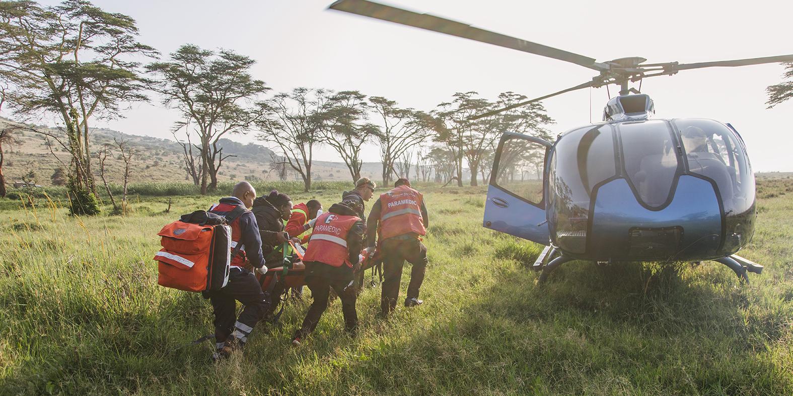 Medevac at Lewa Safaricom Marathon, helicopter support