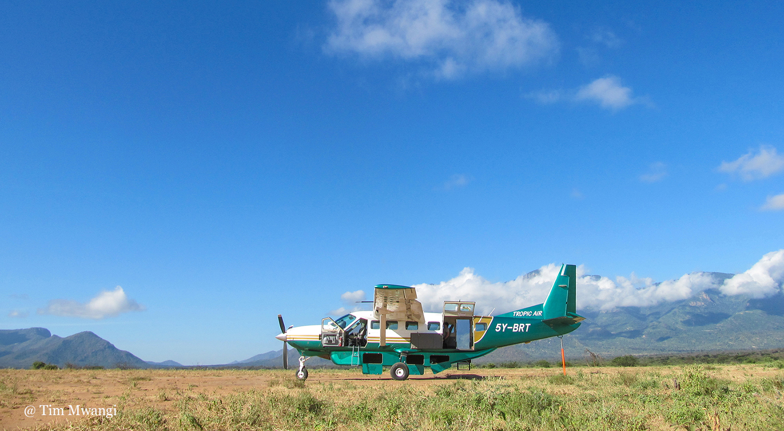 Cessna Caravan in Kenya, ready for private charter flight
