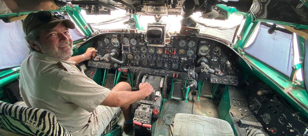 Cockpit of the Antonov at Dira Dawa Ethiopia
