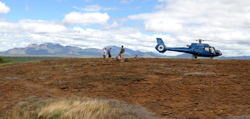 Tsavo West National Park, helicopter safari